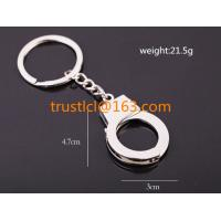 Buy cheap Wholesale metal handcuffs key chain, handcuffs shaped keychain, unique keychain from wholesalers