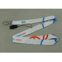 Buy cheap Promotional Satin Sublimation Lanyards Mobile Straps Two Sides Printing from wholesalers