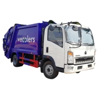 Buy cheap customized SINO TRUK HOWO 5CBM compressed garbage truck for sale,cheaper 5cbm waste trash compactor garbage truck price from wholesalers