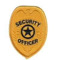 Buy cheap Officer Shoulder Embroidered Custom Iron On Patches Security Guard Patches from wholesalers
