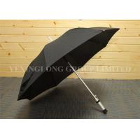 Buy cheap Wind Releasing Straight Handle Umbrella For Business Men Black Coated Metal Frame product
