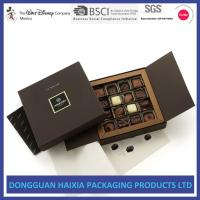 Buy cheap Custom Logo Stamping Cardboard Gift Boxes Luxury Black Book Style Gift Box product