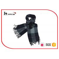 Buy cheap 100% Acrylic Winter Mens / Women Wrap Shawl With Plaid Brushed , Crocheted Shawls from wholesalers