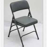 Buy cheap Factory price upholstered Vinyl metal folding chair Factory price metal fabric office folding chair from wholesalers
