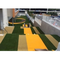 Buy cheap Outdoor Polyethylene Coloured Artificial Grass Synthetic Lawn product