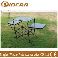 Buy cheap PVC polyester Outdoor Camping Tables , Black / Sliver Portable Grill Barbecue Table from wholesalers