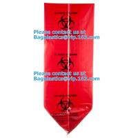 Buy cheap Customized LDPE 40-45 gallon red isolation infectious waste bag biohazard bag linear from wholesalers