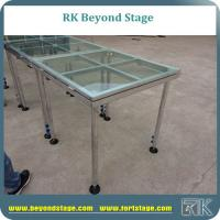 Buy cheap Plexiglass stage platform for concert and T show event performance event stage with glass stage deck from wholesalers