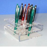 Buy cheap Plexiglass Stationery Rack ,s-Shape Acrylic Pen Holder For 20pcs Pens product
