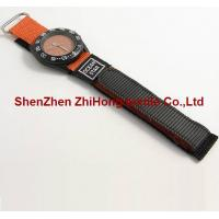 Buy cheap New style replaceable sewn nylon Velcro  hook loop webbing watch wrist band ties from wholesalers