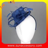 Buy cheap 0914 fashion navy  sinamay fascinators caps for ladies  ,Fancy Sinamay fascinator  from Sun Accessory from wholesalers