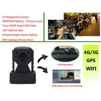 Buy cheap Live Monitoring 3g Wifi Gps Police Body Cameras , Body Worn Camera 1440p from wholesalers