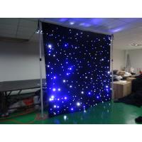 Buy cheap 10x10ft Blue+white star curtain light event decor lighting Led Stage Lighting from wholesalers