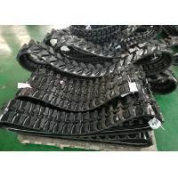 Grey / Black Excavator Rubber Tracks 200mm Wide For Yanmar Wb500 Ym10 Ymd60