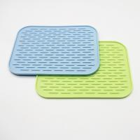 Buy cheap Wholesale silicone dish mat heat resistant trivet glass cup collapsible kitchen custom dish drying mat from wholesalers