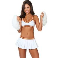 Buy cheap Wholesale Cheerleader Costumes Sexy College Cheerleader Outfit by Spandex for Halloween Christmas in White XXS to XXXL from wholesalers