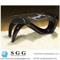 Buy cheap Excellence quality oval glass coffee tables top from wholesalers