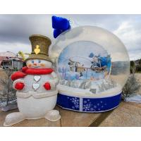 Buy cheap Party Events Inflatable Christmas Decorations Air Snow Globe For Advertising from wholesalers
