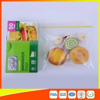 Waterproof Plastic Sandwich Bags Reclosable 18 X 17cm For Food Storage