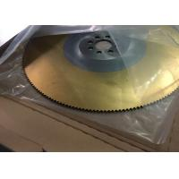 Buy cheap TIN gold color coating M2 450x3.0mmx200th HSS circular saw blade from Wholesalers