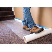 Buy cheap Plastic Carpet Protector Film , Temporary Adhesive Plastic Film With High Tack Adhesion from wholesalers