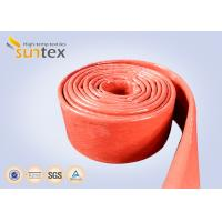 Buy cheap 550C Heat Resistant Silicone Fiberglass Sleeve Insulation Cable Pipe Protection from wholesalers
