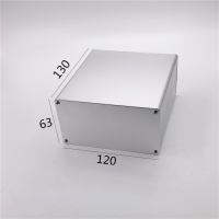 Buy cheap 120*63*130mm Sandblasting Squre Aluminium Extrusion Enclosure With PCB Slot from wholesalers
