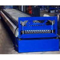 Buy cheap Colored Steel Corrugated Roof Roll Forming Machine High Tensile Thin Barrel from wholesalers
