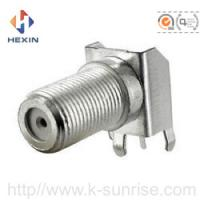 F connector with brackets