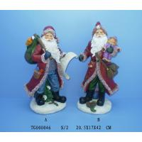 Buy cheap Red Christmas Polyresin Figurine Santa Claus Statues 20.5 X 17 X 42 Cm from wholesalers