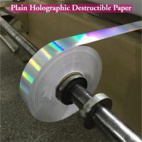Ultra Destructible Tamper Evident Label Material , 3D Hologram Stickers