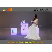 Buy cheap Led Round Bar Stool , LED Cube Chair Glow Furniture With Wireless Remote Control from wholesalers