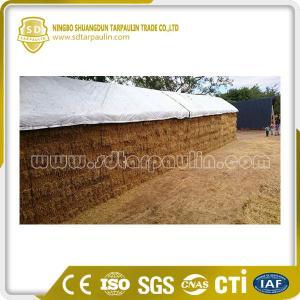 China White PVC Tarpaulin Hay Cover Tarp on sale