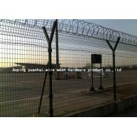 Buy cheap Safety Strong Welded Wire Fence Panels Square Hole Shape Nice Appearance / Airport Security Fencing from wholesalers