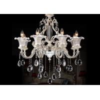 Buy cheap Luxurious 8 Light Modern Chandelier Lighting / Pearl Silver Zinc Italian Chandeliers from wholesalers