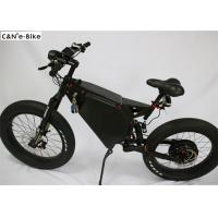Buy cheap Long Range Fat Tire Electric Mountain / Sand / Snow Bike Full Suspension from wholesalers