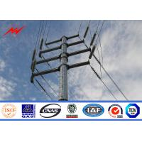 Buy cheap Waterproof Galvanized Steel Pole For 110v Electrical Distribution Line Project from wholesalers