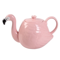 Buy cheap White Wedding 780ml Pot Flamingo Tea Set product