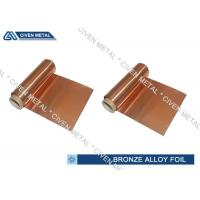 Buy cheap ISO Standard Phosphor Bronze Foil / Alloy Foils with protective Surface coatings product