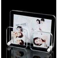 Buy cheap Black Pretty Clear Acrylic Photo Frame / Wedding Photo Frame Standard Size from wholesalers