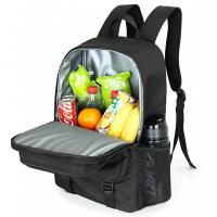 Buy cheap Soft Insulated backpack food delivery lunch bag large capacity fresh storage food   for pacnic from wholesalers