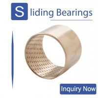 Buy cheap Bronze Bearings Made of CuSn8 with Lubrication Indents Plain Cylindrical Bearings Flanged Bearings Grease Reservoirs from wholesalers