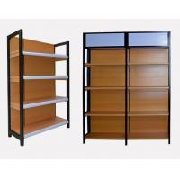 Buy cheap High End Brown Supermarket Display Shelving Grain Wood Metal Material from wholesalers