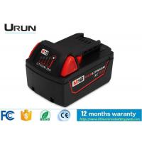 Buy cheap Milwaukee Tools Battery 18V 3000mAh , Lithium Ion Rechargeable Battery Pack from wholesalers