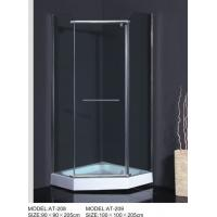 ABS Handle curved  Corner Shower Enclosures Square Type OEM Available