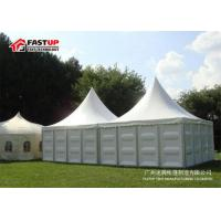 Buy cheap Permanent Aluminium Frame Tent With Decorative Ceilings And Curtain Anti - Rust Surface from wholesalers