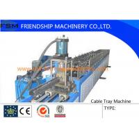 Buy cheap 6 Tons Manual Cable Tray Roll Forming Machine 22 KW With 24 Forming Stations from wholesalers