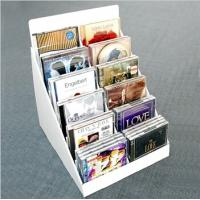 Buy cheap customized recyclable flaring cardboard counter top displays for CD/DVD player from wholesalers