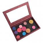 Buy cheap Makeup Cosmetics Custom Eyeshadow Palette Magnetic Multi Colors Longlasting from wholesalers