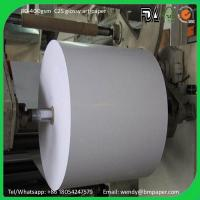 Buy cheap 66*96 70*100cm couche paper C2S Glossy Coated Art Paper Art Card Paper board product